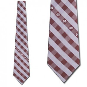 Mississippi State Woven Check Necktie