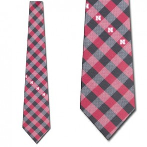Nebraska Cornhuskers Woven Check Necktie