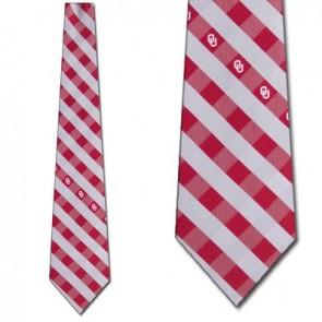 Oklahoma Sooners Woven Check Necktie