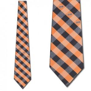Oklahoma State Woven Check Necktie