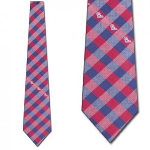 Ole Miss Rebels Woven Check Necktie