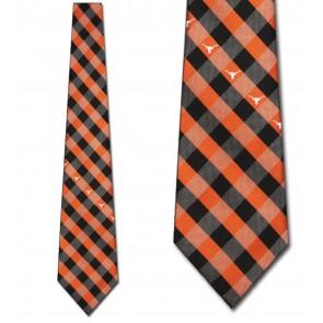 Texas Longhorns Woven Check Necktie