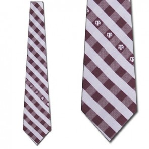 Texas A&M Aggies Woven Check Necktie