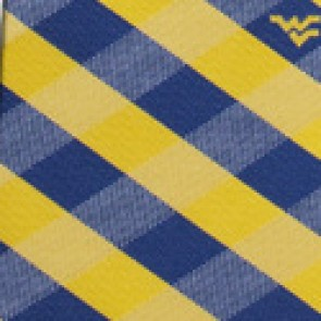 West Virginia Mountaineers Woven Check Necktie