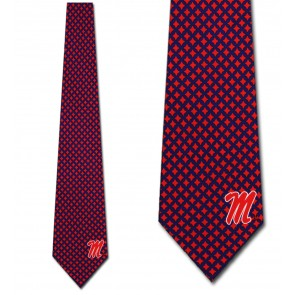 Ole Miss Diamante Necktie