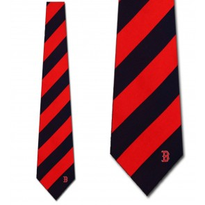 MLB Boston Red Sox Regiment Necktie