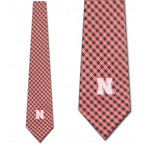 Nebraska Cornhuskers Gingham Necktie