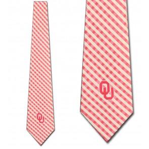 Oklahoma Sooners Gingham Necktie