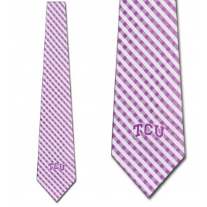 TCU Horned Frogs Gingham Necktie