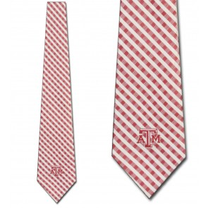 Texas A&M Aggies Gingham Necktie