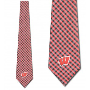 Wisconsin Badgers Gingham Necktie