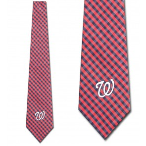 MLB - Washington Nationals Gingham Necktie