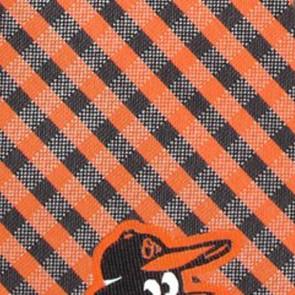 MLB - Baltimore Orioles Gingham Necktie