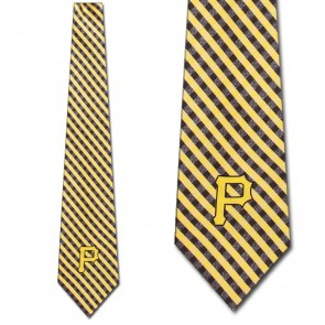MLB - Pittsburgh Pirates Gingham Necktie