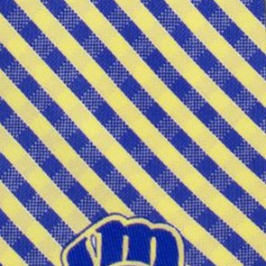 MLB - Milwaukee Brewers Gingham Necktie