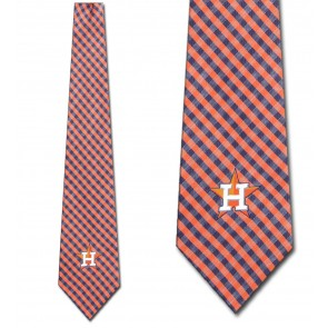 MLB - Houston Astros Gingham Necktie