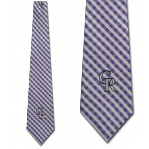 MLB - Colorado Rockies Gingham Necktie