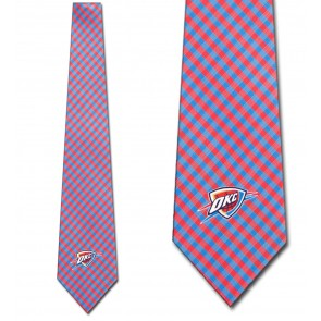 NBA - Oklahoma City Thunder Gingham Necktie