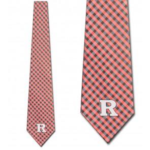 Rutgers Scarlet Knights Gingham Necktie