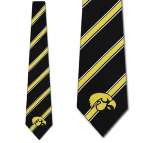 Iowa Hawkeyes Poly Stripe Necktie
