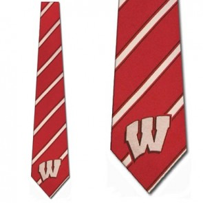 Wisconsin Badgers Poly Stripe Necktie