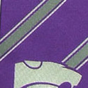 Kansas State Wildcats Poly Stripe Necktie