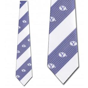 BYU Geometric Stripe Necktie