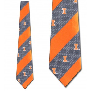 Illinois Geometric Stripe Necktie