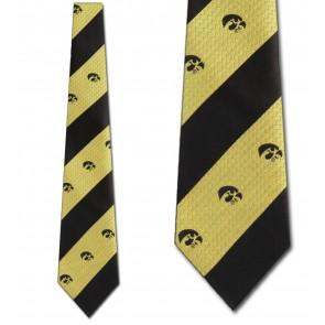 Iowa Hawkeyes Geometric Stripe Necktie