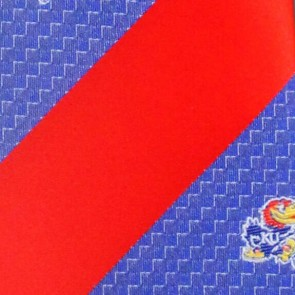 Kansas Jayhawks Geometric Stripe Necktie