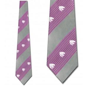 Kansas State Wildcats Geometric Stripe Necktie