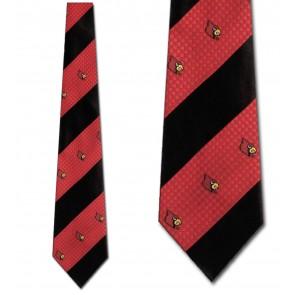Louisville Cardinals Geometric Stripe Necktie
