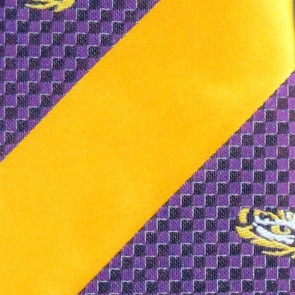 LSU Tigers Geometric Stripe Necktie