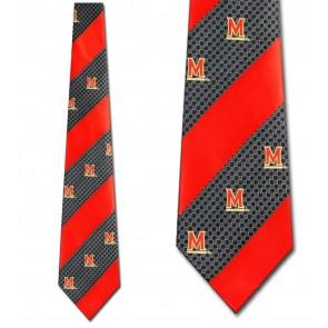 Maryland Terrapins Geometric Stripe Necktie