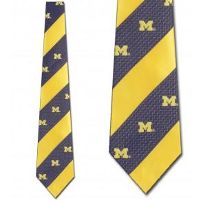 Michigan Wolverines Geometric Stripe Necktie