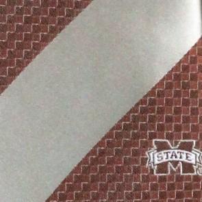 Mississippi State Geometric Stripe Necktie