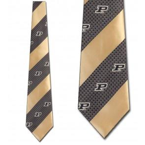Purdue Geometric Stripe Necktie