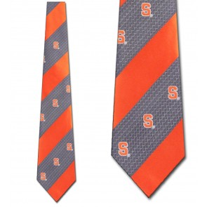 Syracuse Geometric Stripe Necktie