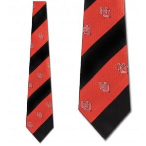 Utah Geometric Stripe Necktie
