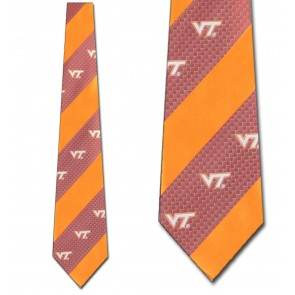 Virginia Tech Geometric Stripe Necktie