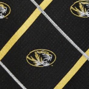 Missouri Tigers Silver Line Necktie