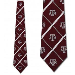 Texas A&M Aggies Silver Line Necktie