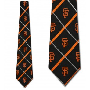 MLB San Francisco Giants Silver Line Necktie