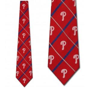MLB Philadelphia Phillies Silver Line Necktie