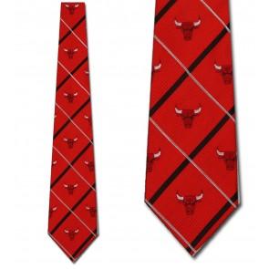 NBA Chicago Bulls Silver Line Necktie