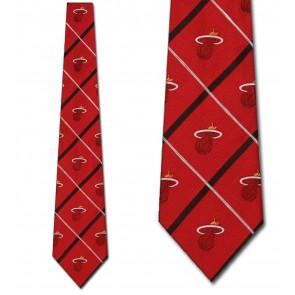 NBA Miami Heat Silver Line Necktie