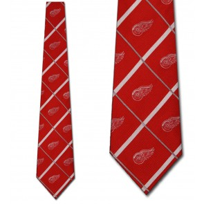 NHL Detroit Red Wings Silver Line Necktie