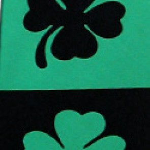 Large Shamrock Stripe Tie