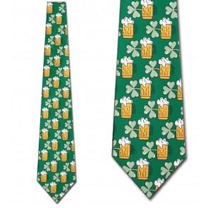 Beer and Clovers Necktie