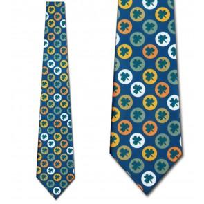 Clover Circles Allover Necktie